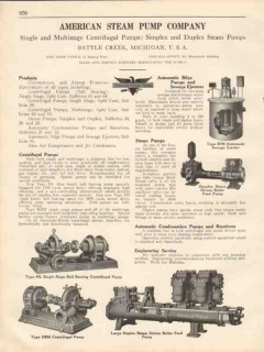 American Steam Pump Company 1931 Vintage Catalog Centrifugal Bilge