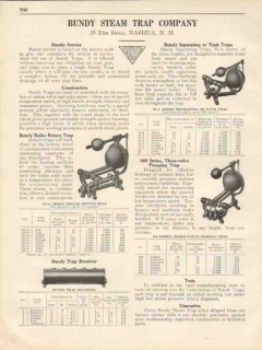 Bundy Steam Trap Company 1931 Vintage Catalog Boiler Return Receiver