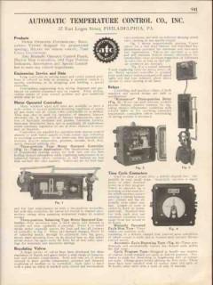Automatic Temperature Control Company 1931 Vintage Catalog Valve Relay