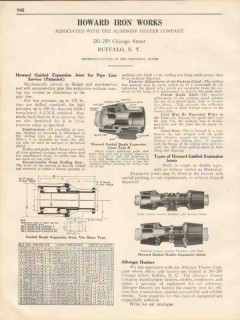 Howard Iron Works 1931 Vintage Catalog Alberger Heater Company Joints