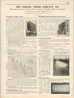 Cooling Tower Company 1931 Vintage Catalog Atmospheric Spray Nozzle