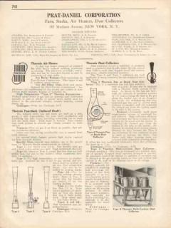 Prat-Daniel Corp 1931 Vintage Catalog Thermix Air Heater Fan Collector