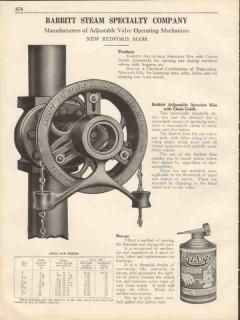 Babbitt Steam Specialty Company 1931 Vintage Catalog Valve Mechanism