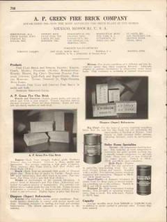 A P Green Fire Brick Company 1931 Vintage Catalog Empire Ozark Mexko