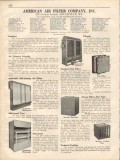 American Air Filter Company 1931 Vintage Catalog Phoenix Self-Cleaning