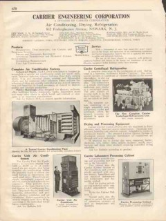Carrier Corp 1931 Vintage Catalog Air Conditioner Drying Refrigeration