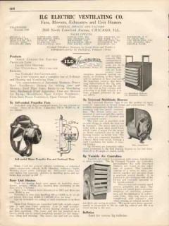 ILG Electric Ventilating Company 1931 Vintage Catalog Fans Blowers