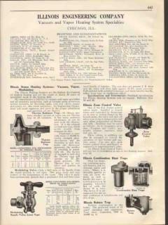Illinois Engineering Company 1931 Vintage Catalog Vapor Heating Vacuum