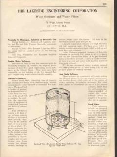Lakeside Engineering Corp 1931 Vintage Catalog Water Softener Filter
