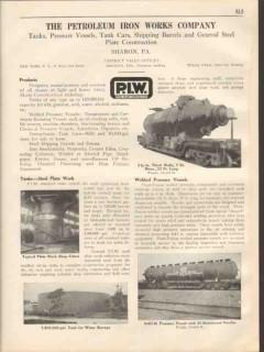 Petroleum Iron Works Company 1931 Vintage Catalog Steel Plate Tanks