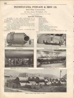 Pennsylvania Furnace Iron Company 1931 Vintage Catalog Steel Plate