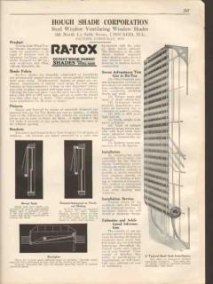 Hough Shade Corp 1931 Vintage Catalog Window Ra-Tox Steel Ventilating
