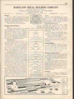 Maryland Metal Building Company 1931 Vintage Catalog Sectional