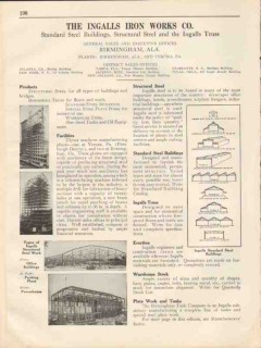 Ingalls Iron Works Company 1931 Vintage Catalog Steel Truss Structural