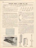 Conver Steel Wire Company 1931 Vintage Catalog Concrete Soffit Clips