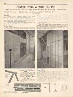 Conver Steel Wire Company 1931 Vintage Catalog Ladder Stud Corner Bead