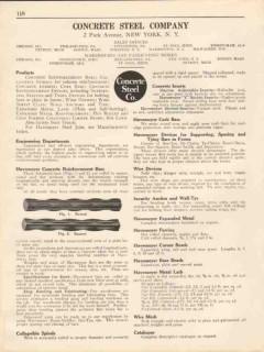 Concrete Steel Company 1931 Vintage Catalog Havemeyer Reinforced Bars