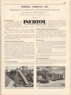 Inertol Company 1931 Vintage Catalog Waterproof Protect Concrete Steel