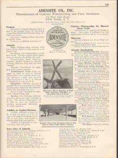 Adensite Company 1931 Vintage Catalog Waterproofing Concrete Hardeners