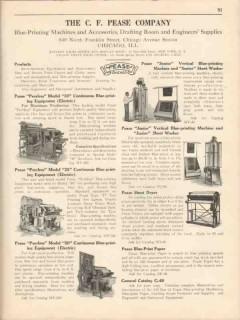 C F Pease Company 1931 Vintage Catalog Blue Printing Equipment Washer