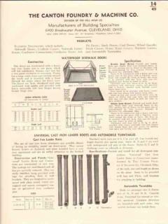 Canton Foundry Machine Company 1941 Vintage Catalog Doors Sidewalk