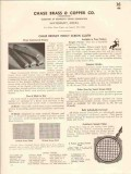Chase Brass Copper Company 1941 Vintage Catalog Screen Bronze Insect