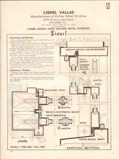 Lionel Vallas 1941 Vintage Catalog Windows Double Hung Hollow Metal