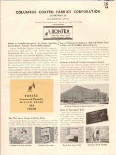 Columbus Coated Fabrics Corp 1941 Vintage Catalog Window Shades Bontex