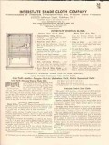 Interstate Shade Cloth Company 1941 Vintage Catalog Venetian Blinds