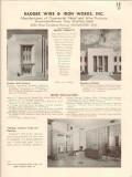 Badger Wire Iron Works 1941 Vintage Catalog Entrances Ornamental Metal