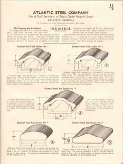 Atlantic Steel Company 1941 Vintage Catalog Hand Rail Dixisteel