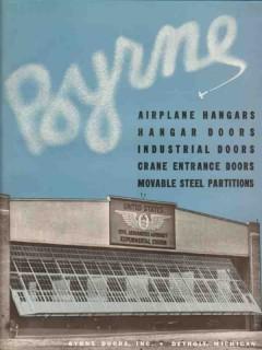 Byrne Doors Inc 1941 Vintage Catalog Airplane Hangar Industrial Canopy