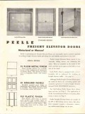 Peelle Company 1941 Vintage Catalog Doors Dumbwaiter Freight Elevator