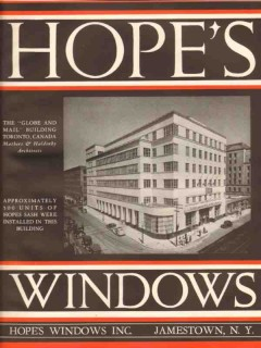 Hopes Windows Inc 1941 Vintage Catalog Metal Sash Globe Mail Building
