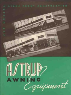 Astrup Company 1941 Vintage Catalog Store Front Awning Fabric Hardware