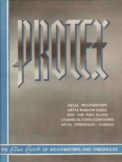 Protex Weatherstrip Mfg Company 1941 Vintage Catalog Metal Thresholds