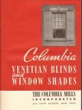 Columbia Mills Inc 1941 Vintage Catalog Window Shades Venetian Blinds