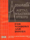Accurate Metal Weather Strip Company 1941 Vintage Catalog Windows Door