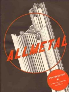 Allmetal Weatherstrip Company 1941 Vintage Catalog Windows Doors