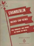 Chamberlin Metal Weather Strip Company 1941 Vintage Catalog Details