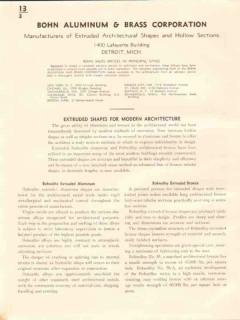Bohn Aluminum Brass Corp 1941 Vintage Catalog Extruded Shapes Bronze