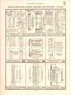 Airolite Company 1941 Vintage Catalog Ventilating Louvers Door Window