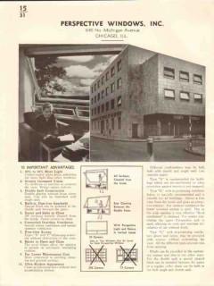 Perspective Windows Inc 1941 Vintage Catalog Single Double Sash Units