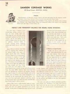Samson Cordage Works 1941 Vintage Catalog Windows Balance Double Hung