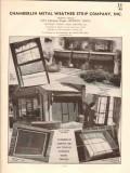 Chamberlin Metal Weather Strip Company 1941 Vintage Catalog Screens