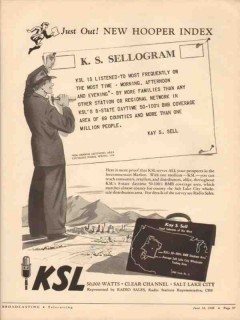 ksl 1948 cbs salt lake city ut radio broadcast station vintage ad