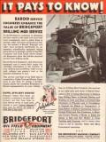 Bridgeport Machine Company 1936 Vintage Ad Baroid Drilling Mud Service