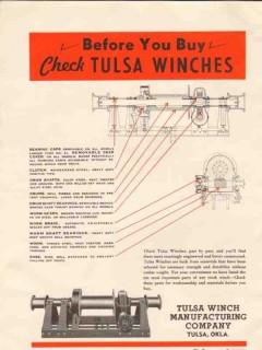 Tulsa Winch Mfg Company 1936 Vintage Ad Oil Field Petroleum Before Buy
