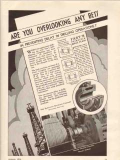 Bartlett Hayward Company 1936 Vintage Ad Oil Delay Drilling Operation
