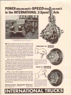 international harvester company 1933 power 2-speed axle vintage ad
